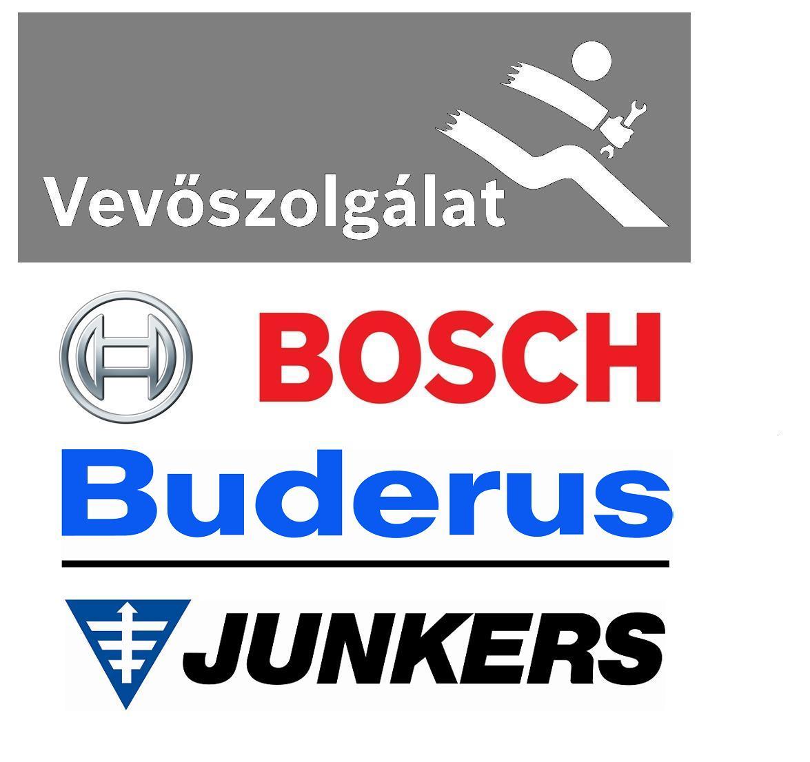 Bosch, Buderus, Junkers vevőszolgálat